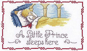 Little Prince Sleeps Here All Our Yesterdays Cross Stitch Kit by Faye Whittaker