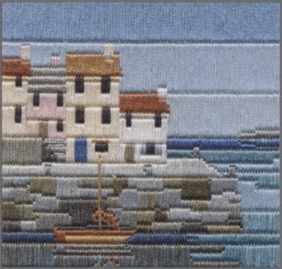 Fishermens Cottages Long Stitch Kit by Derwentwater Designs