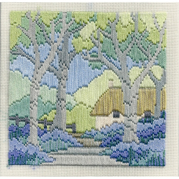 Bluebell Cottage Long Stitch Kit by Derwentwater Designs