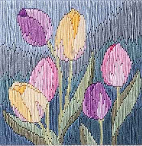 Tulips Long Stitch Kit by Derwentwater Designs