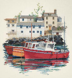 Fishing Village Cross Stitch Kit by Derwentwater Designs