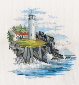 Storm Point Cross Stitch Kit by Derwentwater Designs