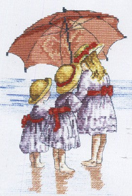 Three Girls All Our Yesterdays Cross Stitch Kit by Faye Whittaker