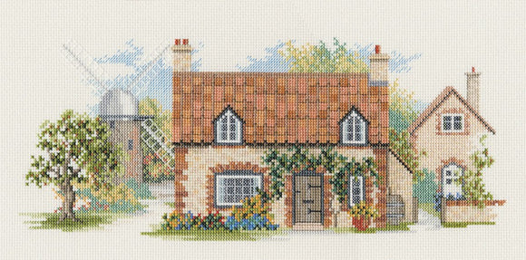 Old Mill Lane Cross Stitch Kit by Derwentwater Designs