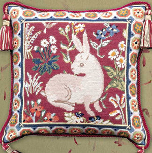 Medieval Rabbit Needlepoint Cushion Kit by Glorafilia