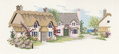 Summer Lane Cross Stitch Kit by Derwentwater Designs