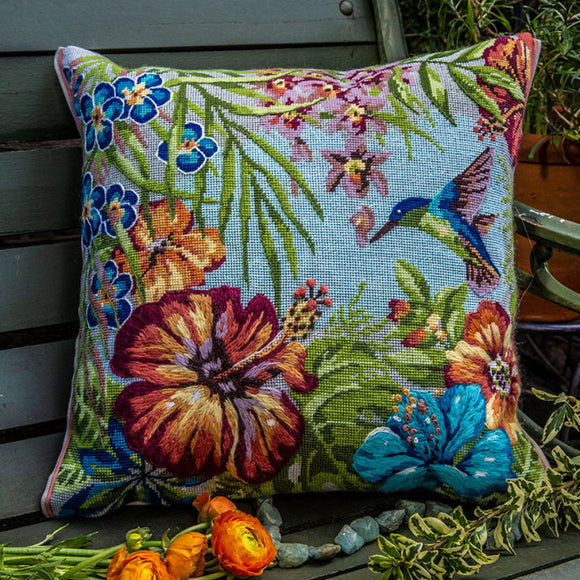 Tropical Needlepoint Cushion Kit by Glorafilia