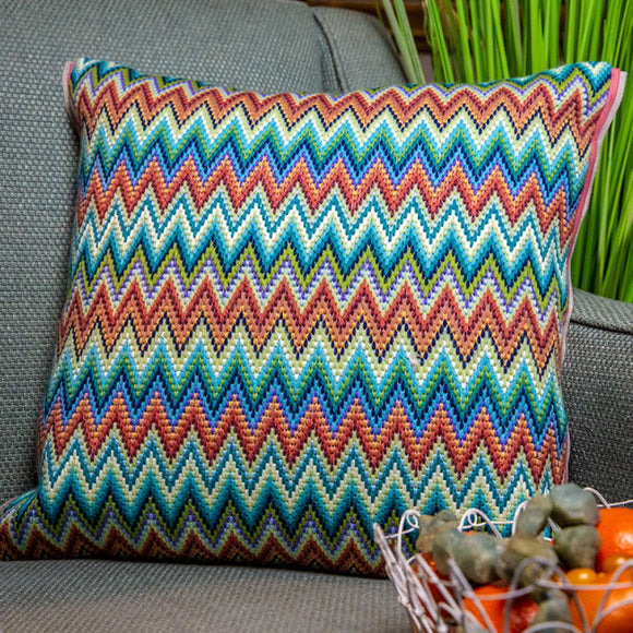 Venetian Bargello Needlepoint Cushion Kit by Glorafilia