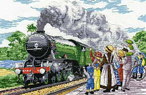 Flying Scotsman All Our Yesterdays Cross Stitch Kit by Faye Whittaker
