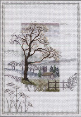 Winter Tree Cross Stitch Kit by Derwentwater Designs
