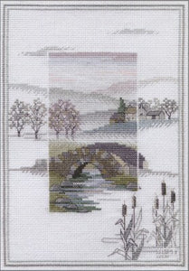Winter Bridge Cross Stitch Kit by Derwentwater Designs