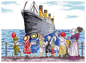 Titanic All Our Yesterdays Cross Stitch Kit by Faye Whittaker