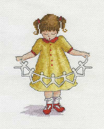 Dolly Chain All Our Yesterdays Cross Stitch Kit by Faye Whittaker
