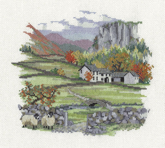 Cragside Farm Cross Stitch Kit by Derwentwater Designs