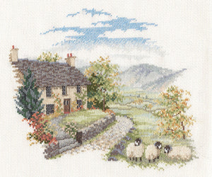 High Hill Farm Cross Stitch Kit by Derwentwater Designs