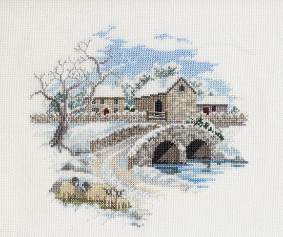 Winterbourne Farm Cross Stitch Kit by Derwentwater Designs
