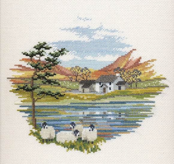 Lakeside Farm Cross Stitch Kit by Derwentwater Designs