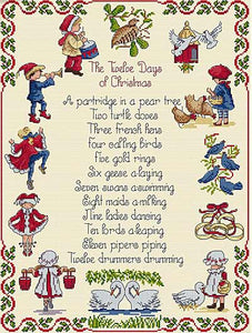 Twelve Days of Christmas All Our Yesterdays Cross Stitch Kit by Faye Whittaker