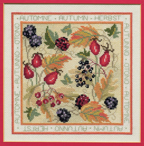 Autumn Cross Stitch Kit by Derwentwater Designs