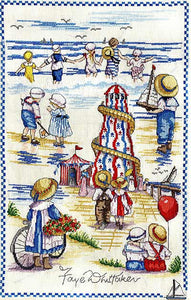Seaside Montage All Our Yesterdays Cross Stitch Kit by Faye Whittaker