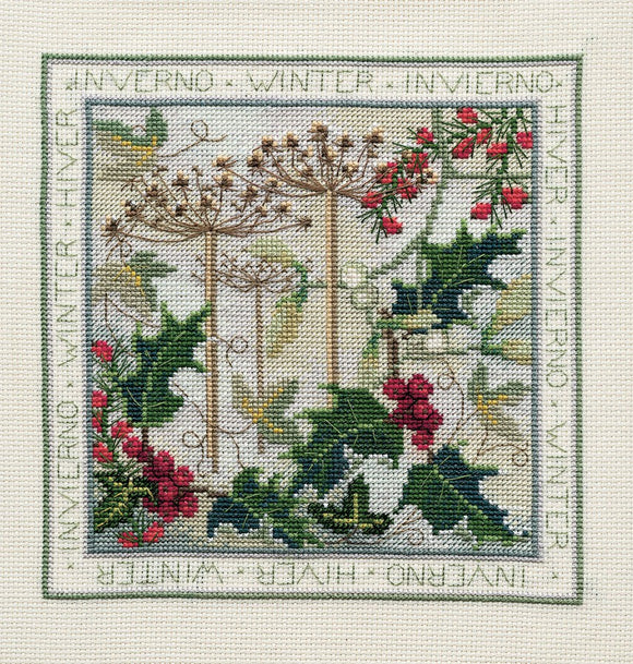 Winter Cross Stitch Kit by Derwentwater Designs