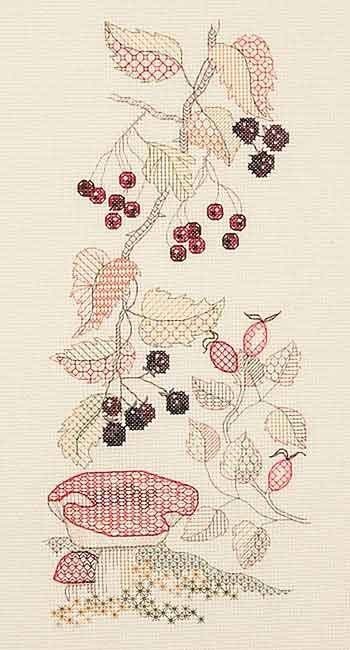 Autumn Blackwork  Blackwork Kit by Derwentwater Designs