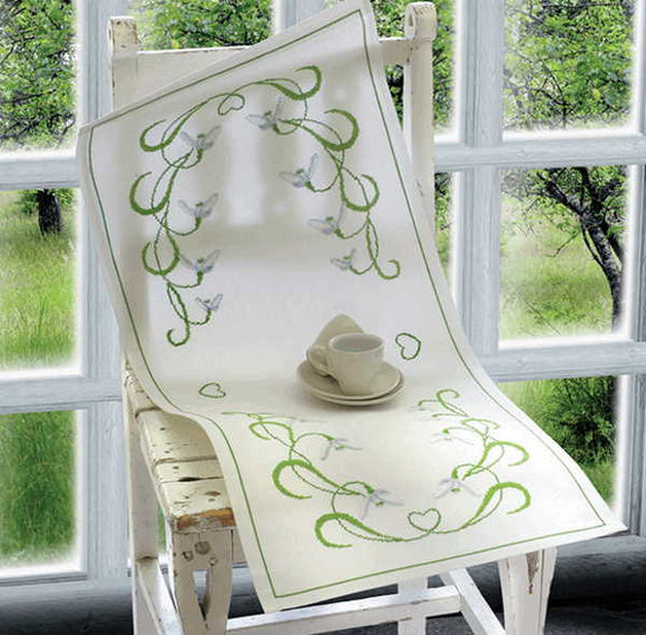 Snowdrop Table Runner Cross Stitch Kit By Anchor