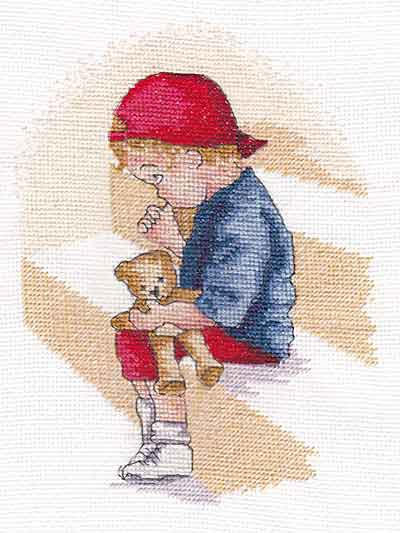 Naughty Step All Our Yesterdays Cross Stitch Kit by Faye Whittaker
