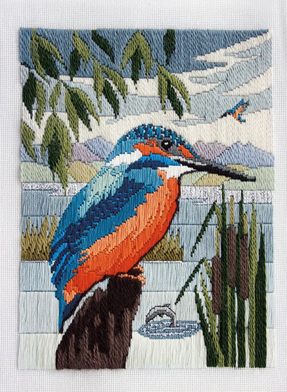 Kingfisher Long Stitch Kit by Derwentwater Designs