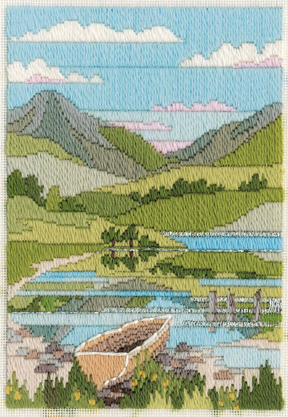 Mountain Spring Long Stitch Kit by Derwentwater Designs