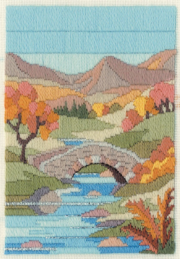 Mountain Autumn Long Stitch Kit by Derwentwater Designs