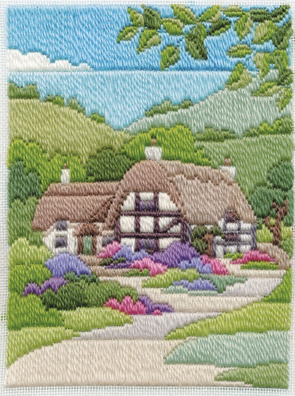 Summer Cottage Long Stitch Kit by Derwentwater Designs