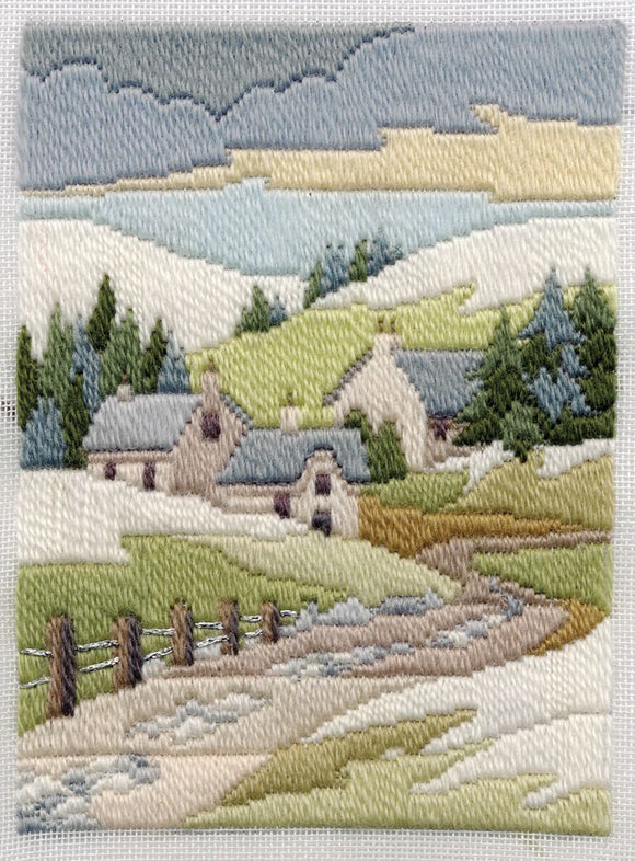 Winter Cottage Long Stitch Kit by Derwentwater Designs