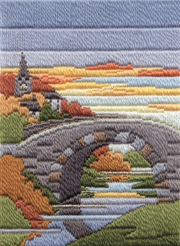 Autumn Evening Long Stitch Kit by Derwentwater Designs