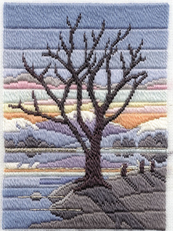 Winter Evening Long Stitch Kit by Derwentwater Designs
