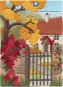 Autumn Garden Long Stitch Kit by Derwentwater Designs