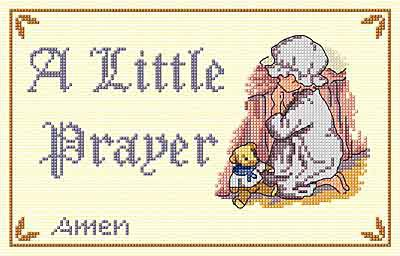 Little Prayer All Our Yesterdays Cross Stitch Kit by Faye Whittaker