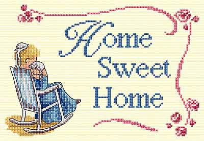 Home Sweet Home All Our Yesterdays Cross Stitch Kit by Faye Whittaker