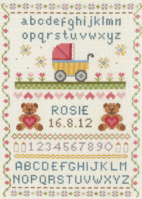 Classic Birth Sampler Cross Stitch Kit By Anchor