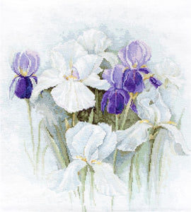 Irises Cross Stitch Kit by Luca S