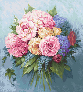Bouquet Cross Stitch Kit by Luca S