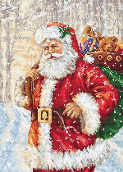 Santa in the Snow Cross Stitch Kit by Luca S