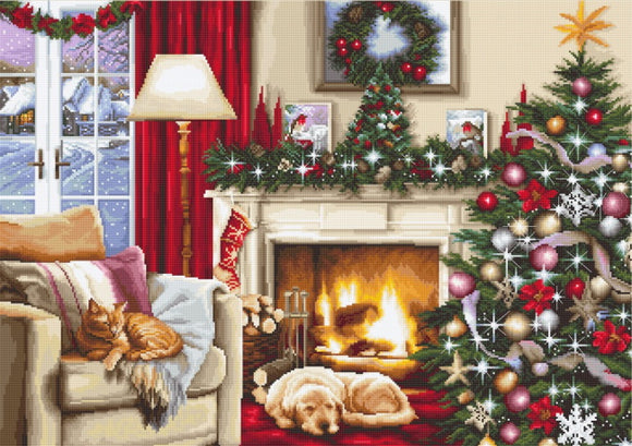 Christmas Room Cross Stitch Kit by Luca S