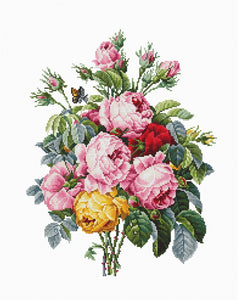 Roses Cross Stitch Kit by Luca S