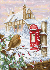 Red Mail Box Cross Stitch Kit by Luca S