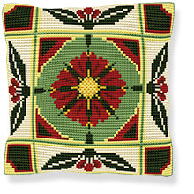 Manzano Printed Cross Stitch Cushion Kit by Brigantia Needlework