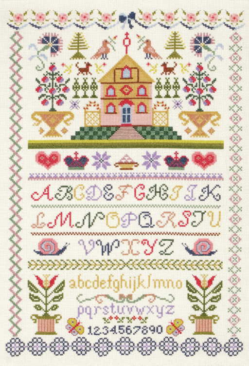 Traditional Sampler Cross Stitch Kit By Anchor