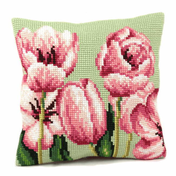 Tulip Cross Stitch Cushion Kit by Collection D'Art..