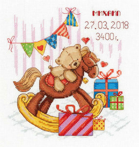 Gifts For You Birth Sampler Cross Stitch Kit by PANNA