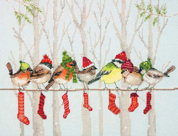 Winter Gathering Cross Stitch Kit by Dimensions